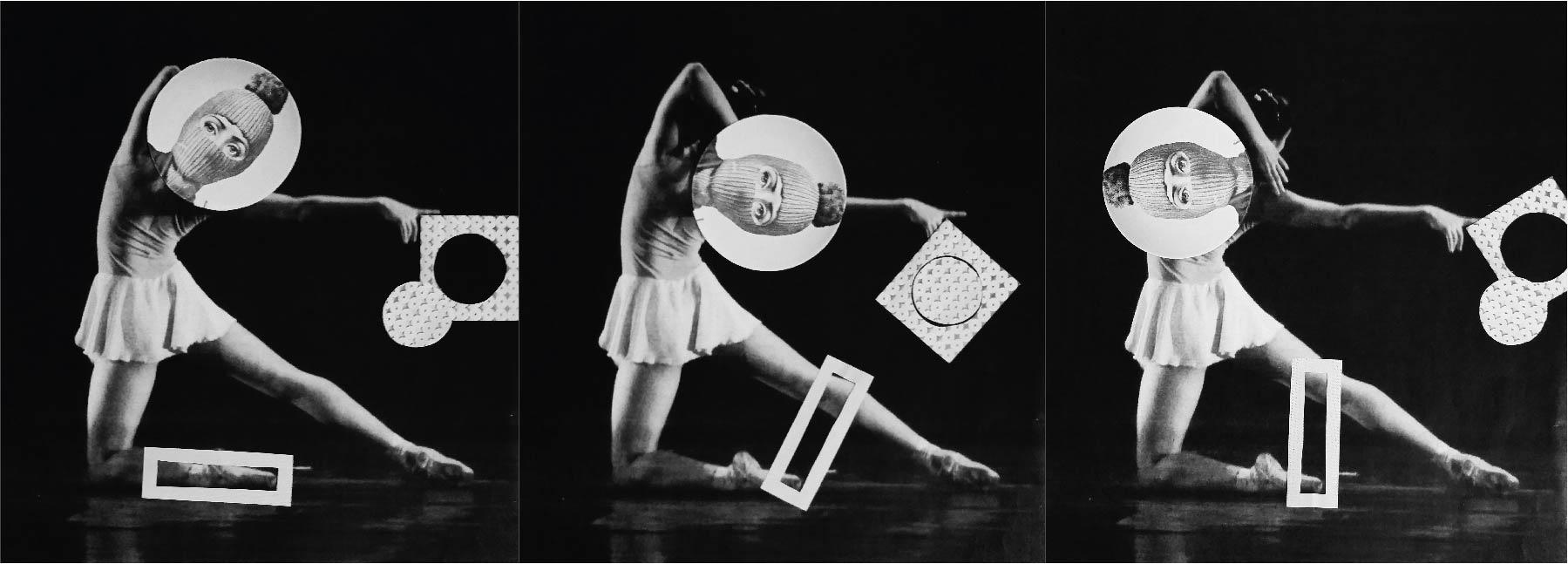 Eine weitere Aufgabe war es ein Foto durch geometrische Formen zu collagieren und Bilder durch verdrehbare Teile beweglich zu machen.