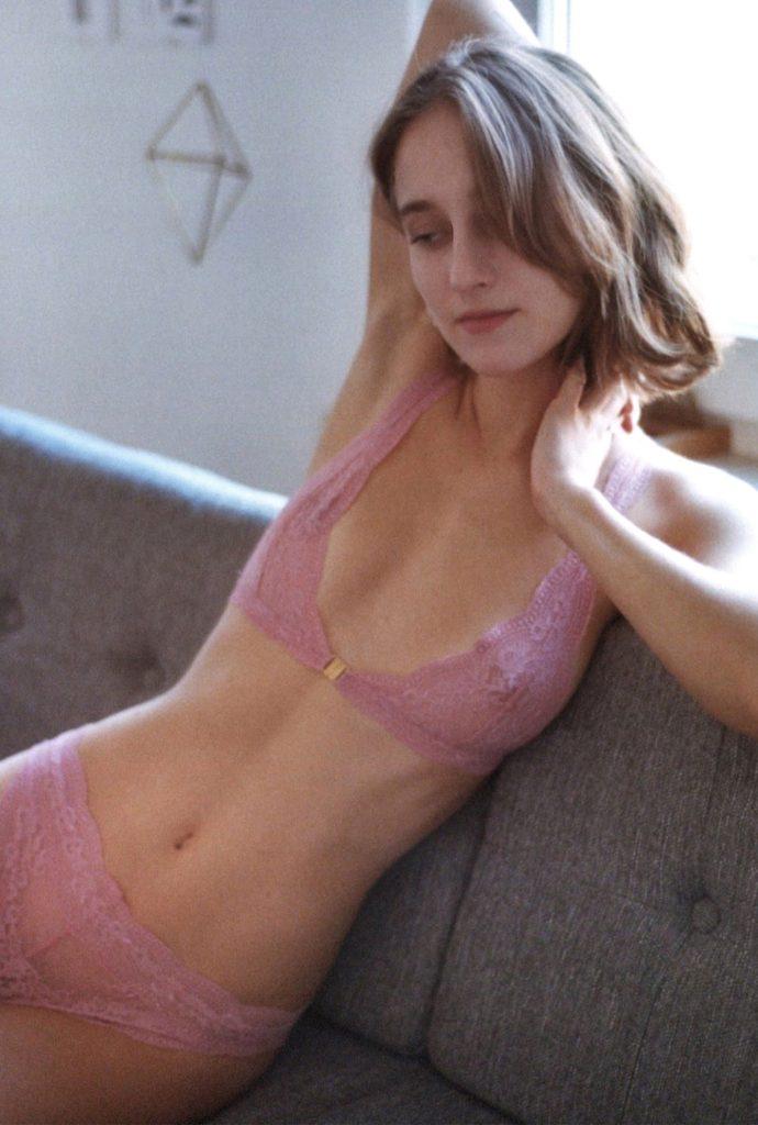 Rosa Spitzen Unterwäsche